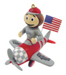 Mascot Airplane Ornament - Ohio State Buckeyes
