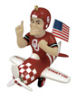 Mascot Airplane Ornament - Oklahoma Sooners
