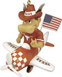 Mascot Airplane Ornament - Texas Longhorns