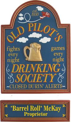Airplane Pilot Personalized Sign