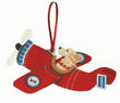 Flying Dog Airplane Ornament