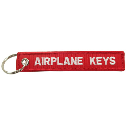 Airplane Keys Embroidered Keychain