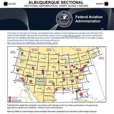 Vfr albuquerque sectional chart subscription mypilotstore com
