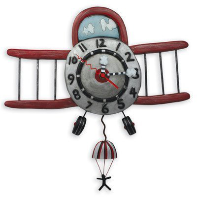 Airplane Jumper Wall Clock
