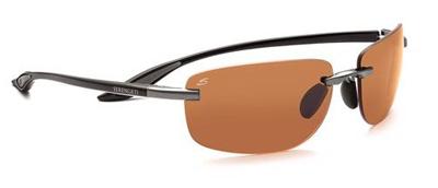 Serengeti Rotolare Sunglasses - Shiny Black Polar Phd Drivers