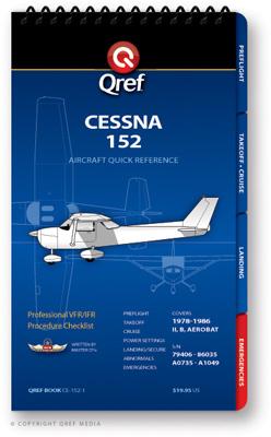Cessna 152 Checklist Qref Book