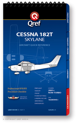 Cessna 182T Analog Checklist Qref Book