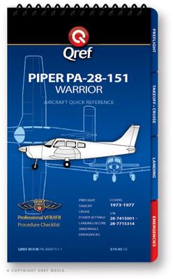 Piper Warrior 151 PA-28-151 Checklist Qref Book