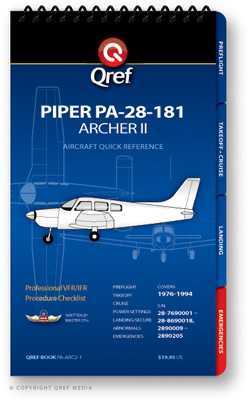 Piper Archer II PA-28-181 Checklist Qref Book