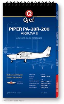 Piper Arrow II PA-28R-200 Checklist Qref Book