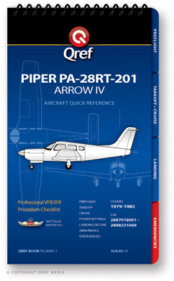 Piper Arrow IV PA-28RT-201 Checklist Qref Book