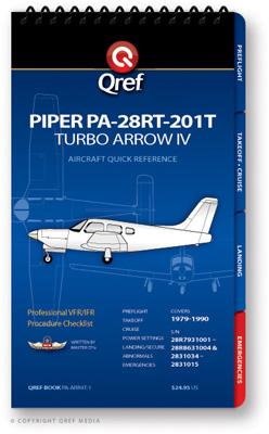 Piper Arrow Iv Turbo Pa-28rt-201t Checklist Qref Book