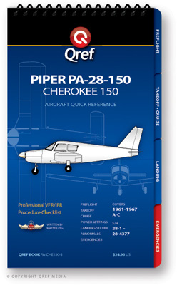 Piper Cherokee 150 Pa-28-150 Checklist Qref Book
