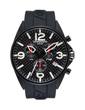Torgoen T16 Watch - Black Polyurethane Strap, Black Carbon Fiber Dial (T16302)