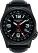 Torgoen T5 Zulu Time Watch - Black Leather, Black Case, Black Face