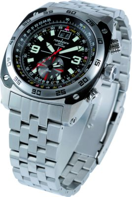 Torgoen T7 Watch - Steel Bracelet, Black Face