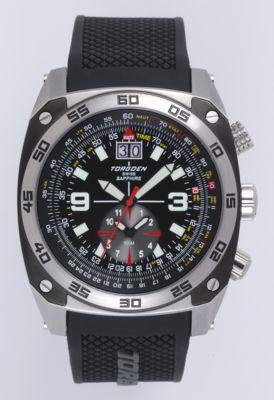 Torgoen T7 Watch - Black Polyurethane Strap, Black Face