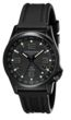 Torgoen T5 Zulu Time Watch - Black Polyurethane Strap, Black Face, Black Case