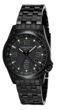 Torgoen T5 Zulu Time Watch - Black Stainless Steel Bracelet, Black Case, Black/White Dials