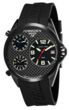 Torgoen T8 Zulu Time Watch - Black Strap, Black Steel Case, Black Carbon Fiber Face