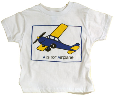 A is For Airplane Youth T-Shirt
