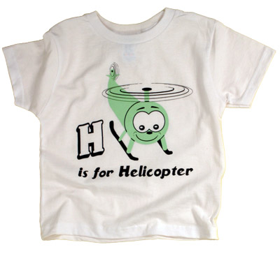 H is For Helicopter Youth T-Shirt