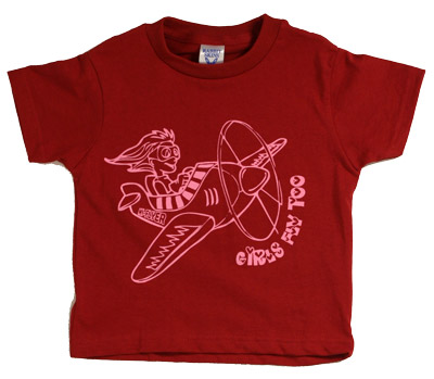 Girls Fly Too Youth T-Shirt