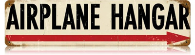 Airplane Hangar Vintage Metal Sign