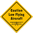 Low Flying Aircraft Metal Sign