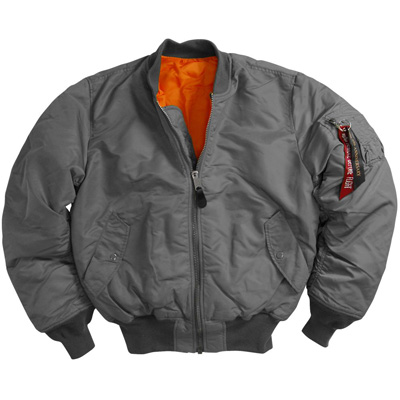 Alpha MA-1 Nylon Flight Jacket - Gunmetal Gray - MyPilotStore.com