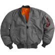 Alpha MA-1 Nylon Flight Jacket - Gunmetal Gray