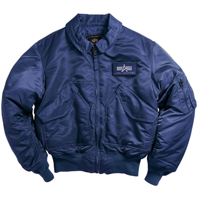 Cwu-45p Nylon Flight Jacket - Replica Blue