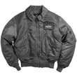 Alpha CWU-45P Nylon Flight Jacket - Gunmetal Gray