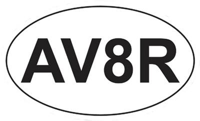 AV8R Euro Sticker
