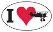 I Love Flying Euro Sticker