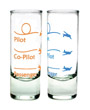 Pilot - Co-Pilot - Passenger Shot Glasses