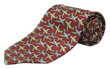 Aviator Jet Tie 100% Silk - Red