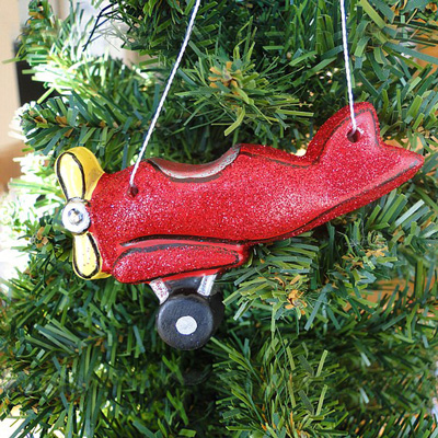 Open Cockpit Airplane Ornament