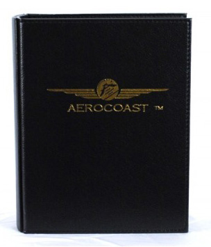 Aerocoast Jeppesen Airway Manual Binder - Black