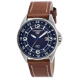 Torgoen T25 Dual Time Watch - Brown Leather Strap T25103