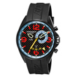 Torgoen T30 Dual Time Watch - Black Strap, Carbon Fiber Face T30303
