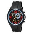Torgoen T30 Dual Time Watch - Black Strap, Carbon Fiber Face T30303