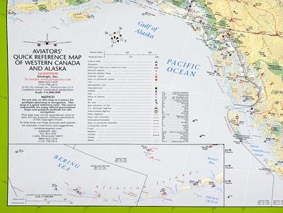 Aviators Quick Reference Flight Case Map - Western Canada/alaska