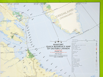 Aviators Quick Reference Flight Case Map - Eastern Canada