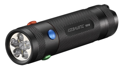 Coast TX10 Four Color LED Flashlight