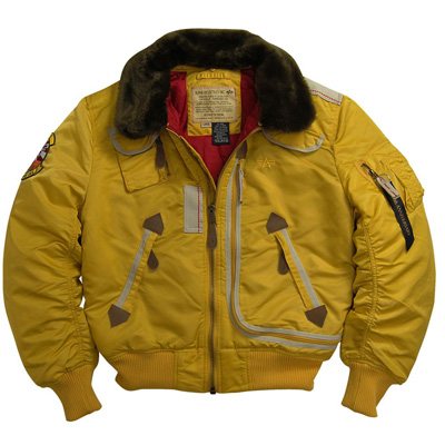 Alpha B-15 Injector Nylon Flight Jacket - Yellow