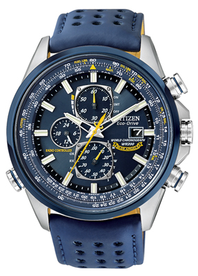 Mens Citizen Blue Angels World Chronograph A-t Watch (at8020-03l)