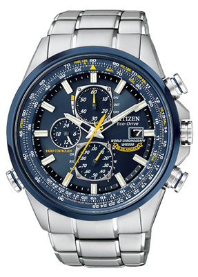 Men's Citizen Blue Angels World Chrono A-T Eco-Drive Watch (AT8020-54L)