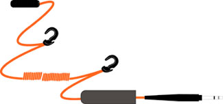 David Clark Day-Glo Orange Extension Cord 26' COIL
