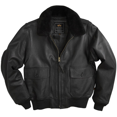 Alpha G-1 Leather Jacket (Black)
